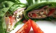 a'la Tortilla z szynki i salaty
