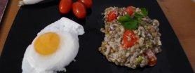 Soczewica ze śmietaną i pomidorami