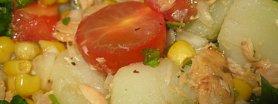 Sałatka  z ziemniakami i tuńczykiem