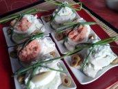 Jajka faszerowane na śledziu